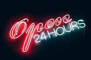 24 stunden offen